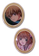 Tsubasa Reservoir Chronicle Syaoran and Sakura Oval Pin Set