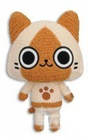 Monster Hunter 10'' Beige Cat Microfiber Plush