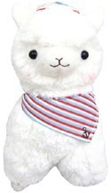 Llama 12'' White Sailor Plush