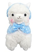 "Llama 12"" White Ear Muffs Plush"