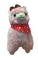 "Llama 12"" Pink Cowboy Plush"