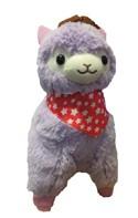 "Llama 12"" Lavender Cowboy Plush"