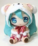 Vocaloid 8'' Snow Miku w/ Bear Hood Plush