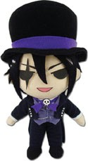 Black Butler 8'' Sebastian Top Hat Plush