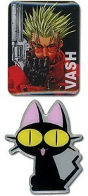 Trigun Vash and Kuro Neko Pin Set