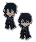 Sword Art Online Kirito Happy and Angry Pin Set