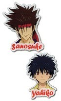 Rurouni Kenshin Sanosuke and Yahiko Pin Set