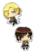 Attack on Titan Annie and Sasha Pin Set
