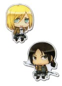 Attack on Titan Christa and Ymir Pin Set