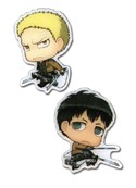Attack on Titan Bertholdt and Reiner Pin Set