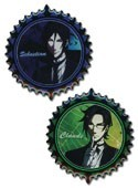 Black Butler Sebastian and Claude Pin Set