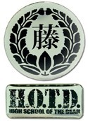 High School of the Dead Logos Pin Set