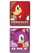 Sonic the Hedgehog Amy and Knuckles Pin Set