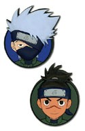 Naruto Kakashi and Iruka Heads Pin Set