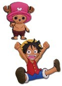 One Piece Chopper and Luffy Pin Set