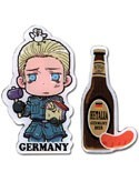 Hetalia Axis Powers Germany Beer and Sausage Pin Set