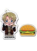 Hetalia Axis Powers America & Burger Pin Set