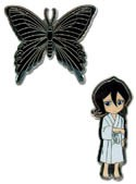 Bleach Rukia and Butterfly Pin Set