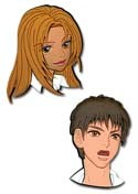 Peach Girl Momo and Toujo Pin Set