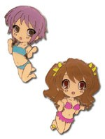 The Melancholy of Suzumiya Haruhi Yuki and Mikuru Pin set