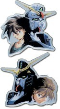 Gundam Wing Heero and Duo Pin Set