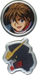 Gundam Wing Duo Pin Set