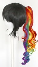 Loose Curly Clip - Rainbow Blend