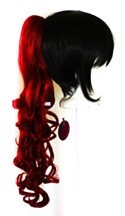 Loose Curly Clip - Crimson Red