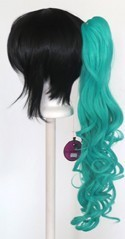Loose Curly Clip - Seafoam Green