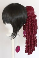 Ringlet Curly Clip - Burgundy Red