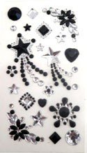 Phone Stickers Black and Clear Stars