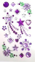Phone Stickers Purple Stars