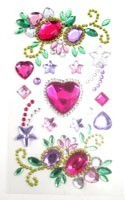 Phone Stickers Multi-Colored Hearts and Flowers
