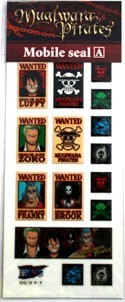 One Piece Wanted Poster Set A Phone Stickers