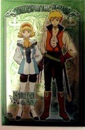 Tales of the Abyss Metallic Post Card Natalia and Guy