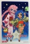 Lucky Star Collectable Board Konata, Miyuki Yukata