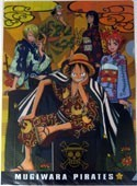 One Piece Group in Kimonos Group Orange Clear File Folder