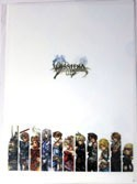 Final Fantasy White Group Columns Clear File Folder