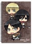 Attack on Titan Chibis Note Book