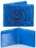 Nintendo Blue Super Thin Mario Wallet