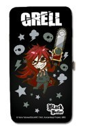 Black Butler Grell Long Checkbook Wallet