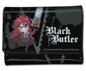 Black Butler Grelle Black Trifold Wallet