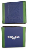 Attack on Titan Survey Corps Blue and Green Bifold Wallet