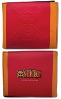 One Piece Luffy Pirates Red and Orange Bifold Wallet
