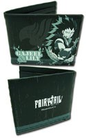 Fairy Tail Gajeel and Lily Black Bifold Wallet