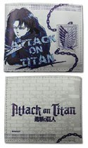 Attack on Titan Levi Purple and White Bifold Wallet