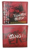 Cowboy Bebop Spike Red Bifold Wallet