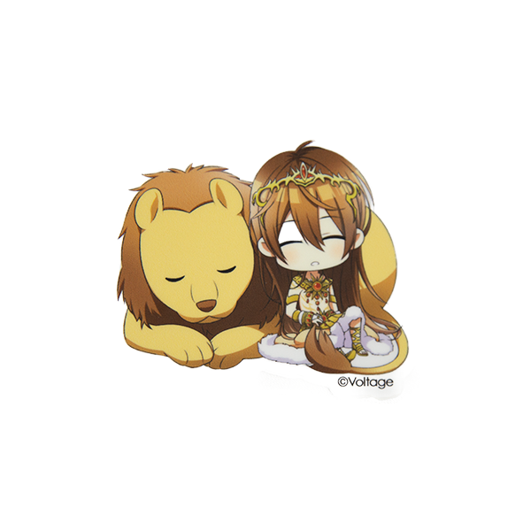 Star-Crossed Myth: Chibi Leon & Lion 3'' Die Cut Sticker