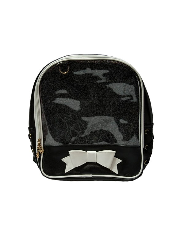 Ita Bag - Black with White Ribbon