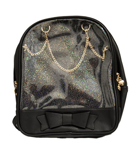 Ita Bag - Black with Gold Chains